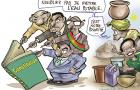 Caricature réalisée par IRC dans son plaidoyer pour la prise de l'eau et l'assainissement dans la Constitution