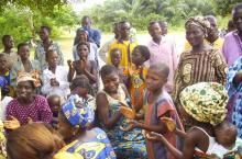 Une campagne de sensibilisation à Abomey Calavi. Photo : Pacôme Tomètissi
