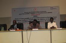 La cérémonie d'ouverture de cet atelier a eu lieu ce mercredi 15 janvier 2014 sous la présidence de Naboho Kanidoua, représentant le président de l'Assemblée nationale.
