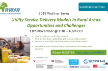 Banner RWSN webinar - Utility Service Delivery Models in Rural Areas: Opportunities and Challenges