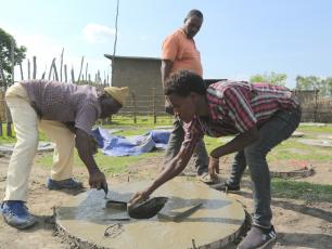Making a toilet slab in Ethiopia