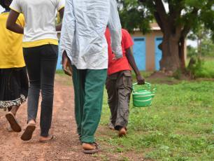 People fetching water in Burkina Faso