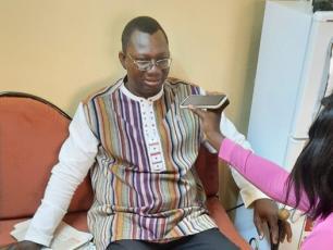 Maire de Banfora pendant l'interview