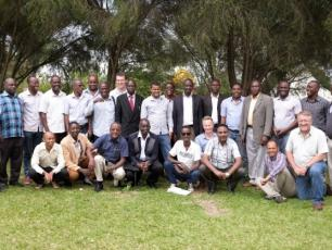 Participants on experience sharing visit in Uganda