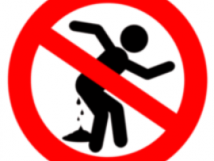 Forbidden to defecate here logo