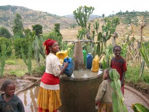 Ethiopia - rural water point in East Haraghe (photo credit Catarina Fonseca)
