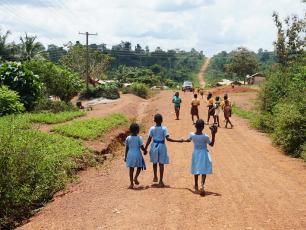 Children in Asutufi North, Ghana