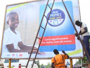 Mains propres bonne sante campaign billboard in Ouagadougou