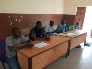 Members of World Vision Mali during the workshop