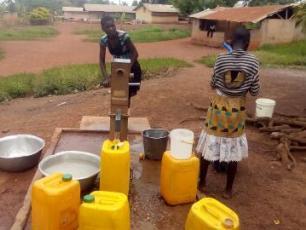 Fetching water in Ghana