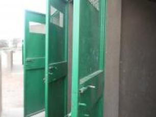 Open latrine doors