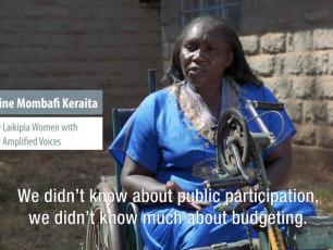 Women voices for water in Nanyuki, Kenya