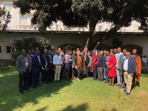 Participants at two-day workshop for GLAAS Focal Points from Anglophone African countries, August 2018