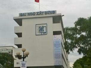 Image of a building of the National University of Civil Engineering in Vietnam