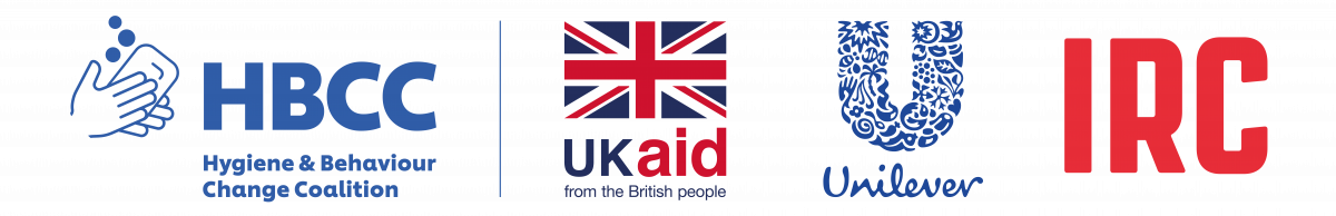 HBCC, UKaid, Unilever and IRC logos